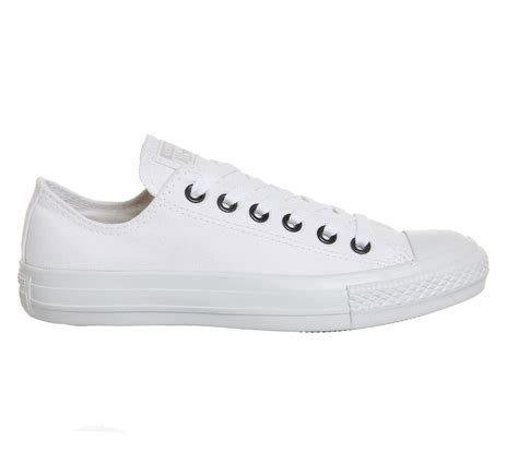 Converse 3 Holes Mono White converse converse all low white mono silver eyelet unisex sports