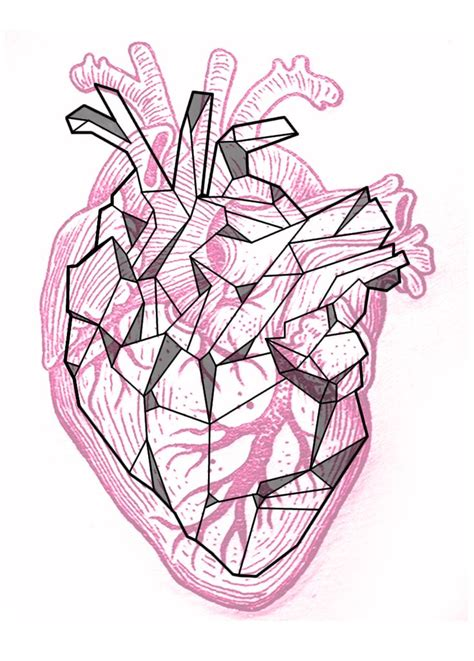 geometric heart tattoo 17 best ideas about anatomical on human