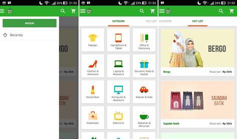template toko online tokopedia gambar 1 2 aplikasi lazada