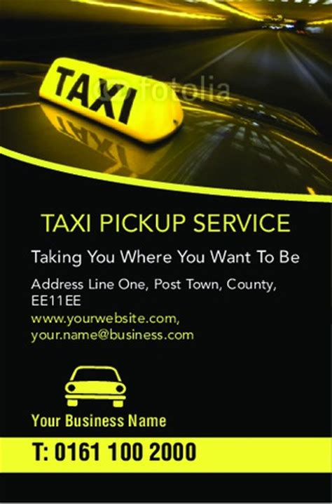 taxi business cards templates free print templates printing uk