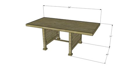 Free Plans To Build A Joss Main Inspired Wesley Dining Table Joss And Dining Tables