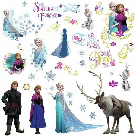 Wallpaper Sticker Glitter by Glitter Frozen Wall Decals Disney Frozen Wall Stickers