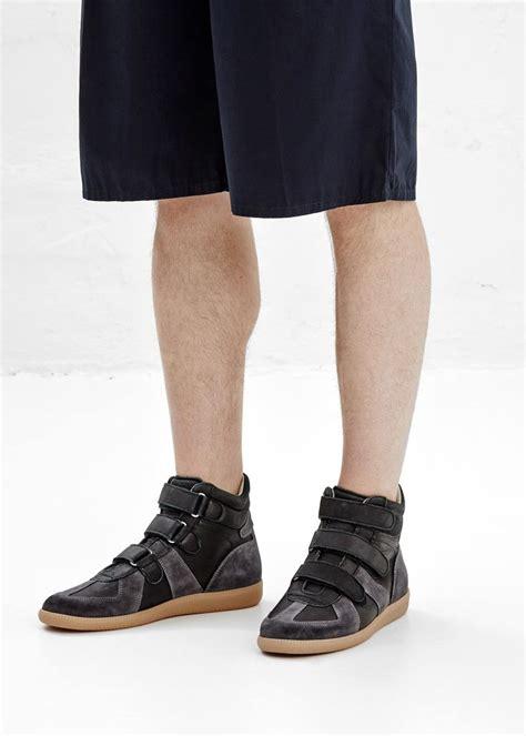 martin margiela hi top sneaker maison martin margiela velcro hi top sneaker black it