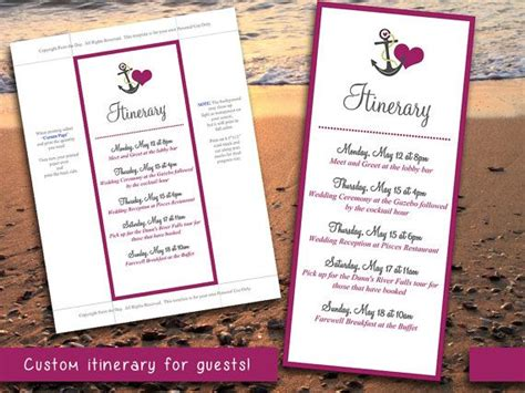 wedding itinerary for guests template 17 best ideas about wedding itinerary template on