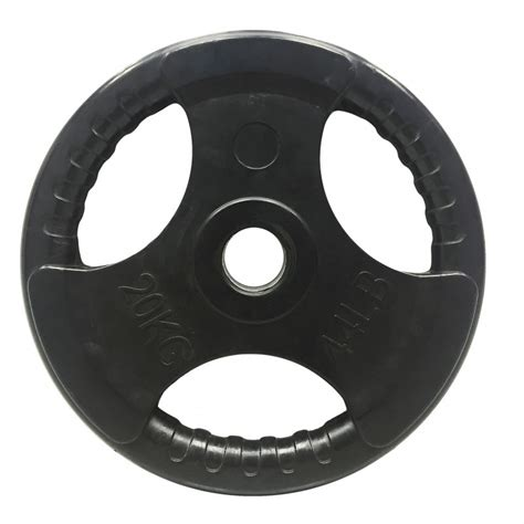 Rubber Plate Grip 3cm 20kg tri grip rubber encased weight plates olympic movement singapore