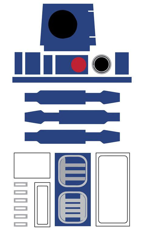 r2d2 printable template free printable wars r2 d2 favor bag decoration