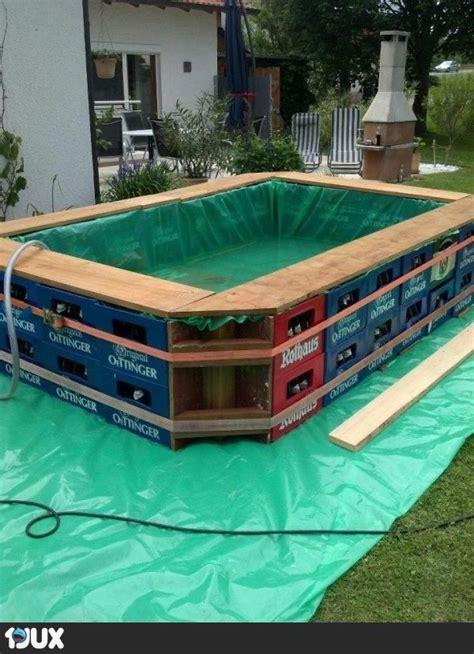 pool aus bierkisten garden pinterest
