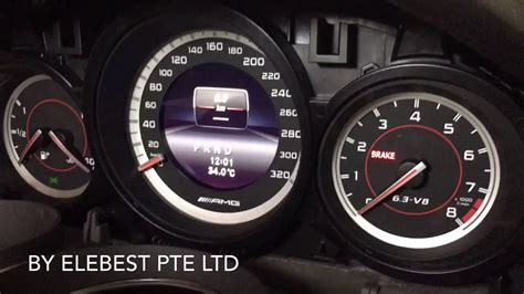 amg  instrument cluster retrofitted youtube