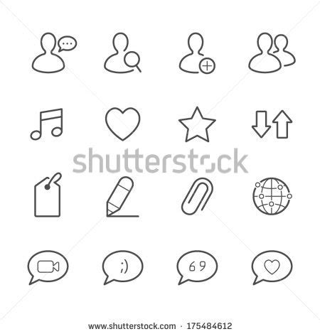 Stiker Mobil Sticker Mobil Sing Universal Code0292 set icons messages stock vector 262303850
