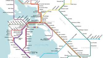 San Francisco Subway Map by A Map Of San Francisco S Subway System That Almost Was