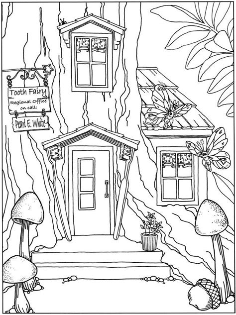 fairy door coloring page whimsical fairy garden coloring pages coloring pages
