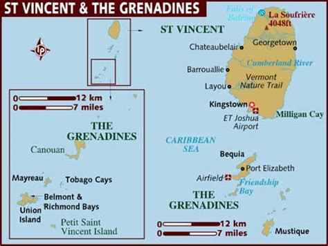 map of st vincent and the grenadines vincent and the grenadines prices costs by topic