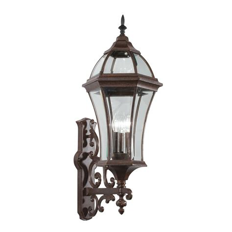 Kichler Outdoor Lights Shop Kichler Townhouse 31 In H Tannery Bronze Outdoor Wall Light At Lowes