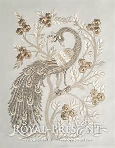 machine embroidery design peacock chinese by royal present