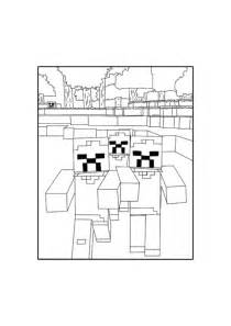 minecraft zombie coloring pages printable minecraft