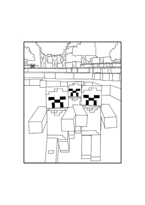 minecraft coloring pages zombie zombie minecraft coloring pages free printable minecraft