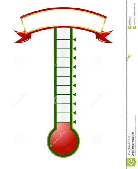 Goal Thermometer Template Template Business Fundraising Thermometer Template