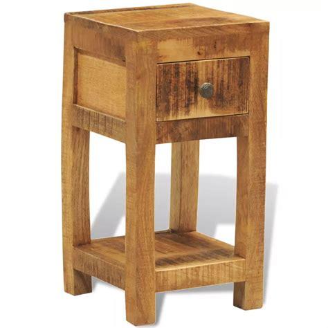 tavolino comodino tavolino in legno solido comodino con 1 cassetto vidaxl it