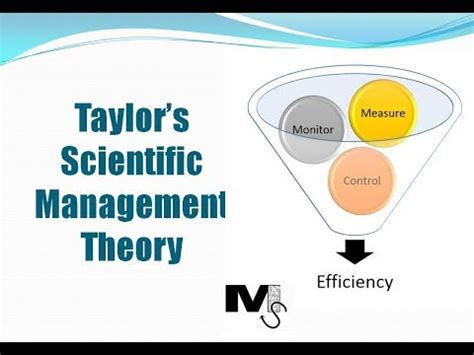 taylor's scientific management theory simplest