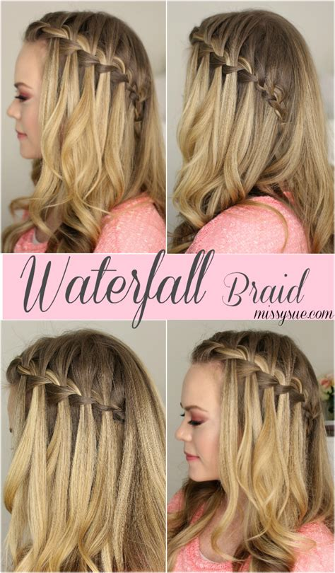waterfall hairstyle step by step how to do a waterfall braid