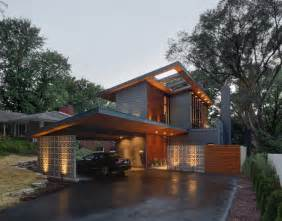 Modern Two Story House Half Century Rancher Renovated Into Large Modern 2 Story