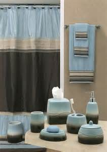 Brown And Blue Bathroom Accessories Building Our Master Bathroom On Bath Accessories Bathroom And Decorative Bottles