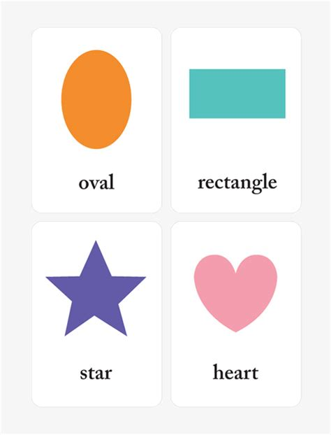 shape flash cards templater learning shapes and colors for toddlers printable