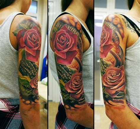 tattoos to go with roses organic by grimmy3d on deviantart