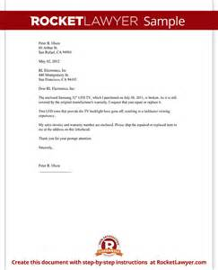 Service Warranty Letter Format Warranty Repair Request Letter Create A Free Template With Sle