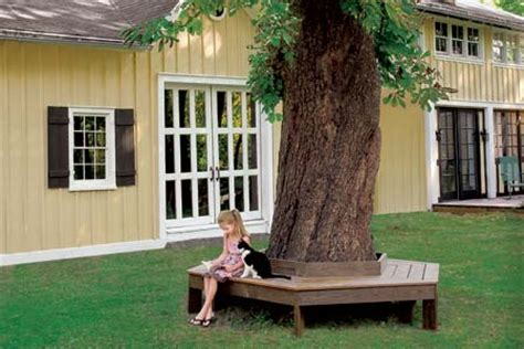 diy tree bench 20 garden and outdoor bench plans you will love to build