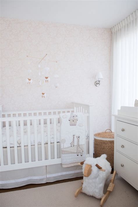 nursery with ikea hemnes 3 pottery barn kendall fixed gate crib transitional