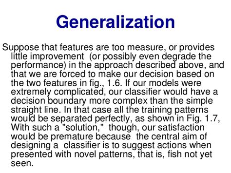 pattern recognition generalization pattern recognition and machine learning
