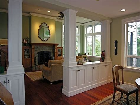 Kitchen Living Room Divider Living Room Dining Room Divider Cabinetry W Storage Columns Portfolio Kitchen Bath And