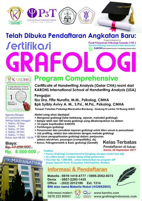 Kelas Program grafologi indonesia lembaga kursus dan pelatihan