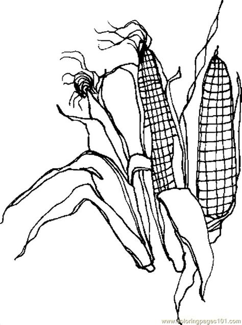 corn coloring pages for thanksgiving free coloring pages of corn
