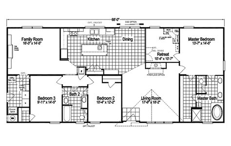 modular homes in texas with floor plans the pecan valley iii ml30683p manufactured home floor plan