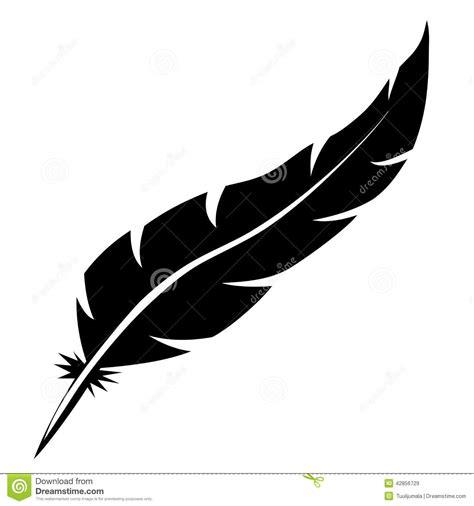 Down And Feather Duvet Forme De Plume D Oiseau Illustration De Vecteur Image