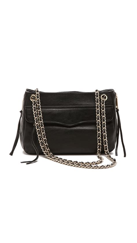 rebecca minkoff swing bag black rebecca minkoff swing bag black in black lyst