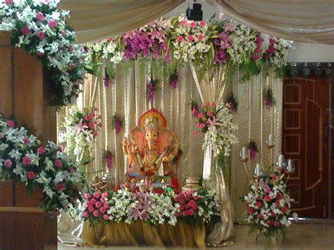 flowers decoration in home amazing ganesha decoration ideas for ganesh chaturthi