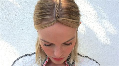braids with bolding center try this tonight kate bosworth s grungy chic center braid