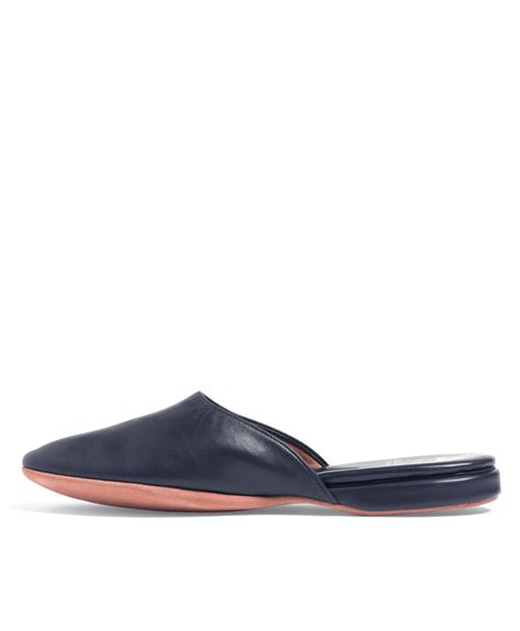 backless slippers brothers nappa backless slip on slippers in blue