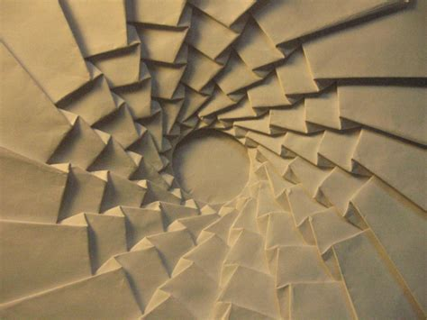 Origami Spiral - origami tessellation spiral origami paper