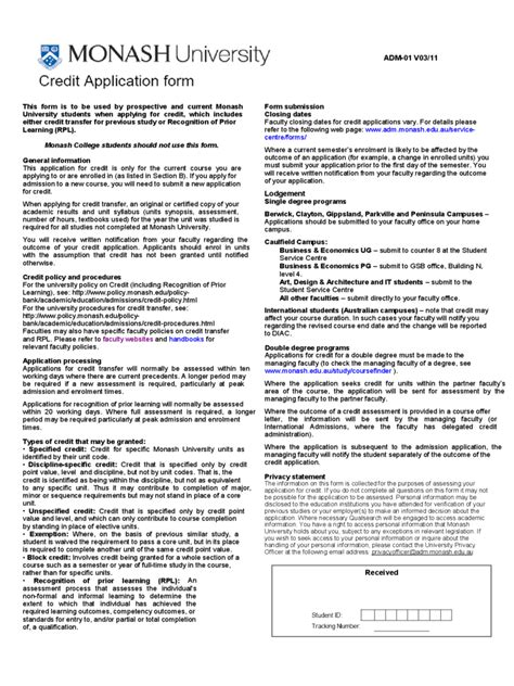 Credit Application Form Sle For Uae monash resume sle 28 images charming resume check monash ideas resume ideas resume