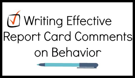 writing effective report card comments grades 1 6 writing effective report card comments on behavior
