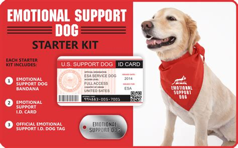 Starter Kits Service Dog Vest And Id Card Kits Service Dog Vests And Id Cards Emotional Support Id Template