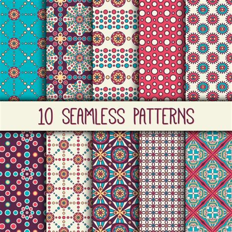 boho style patterns collection vector free