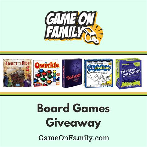 Video Game Giveaway - board games giveaway