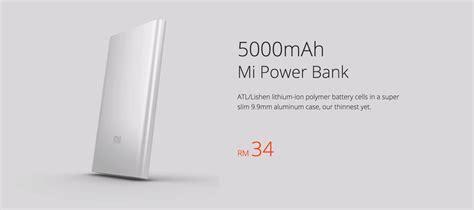 Power Bank Xiaomi Di Malaysia xiaomi malaysia menyenaraikan mi power bank ternipis pada harga rm34 amanz