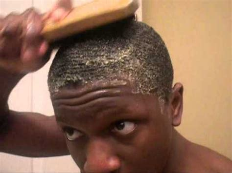 pic of black men with waves in their hair how 2 get 360 waves egg method youtube