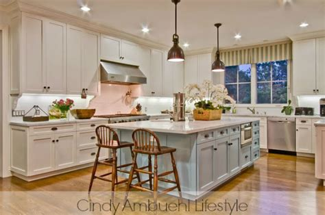 kitchens with different colored islands white kitchen inspiration via ambuehl